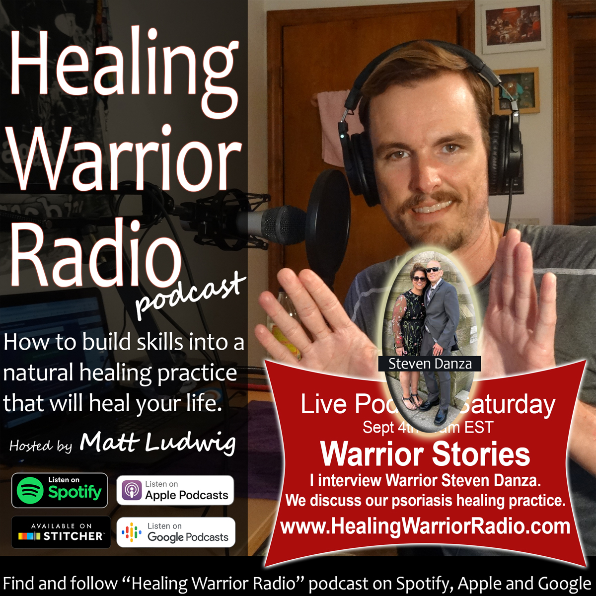 Warrior Story 01 with Steven Danza – We Talk Healing Psoriasis Diet, Celery Juicing, Lemon Water, Yoga, Medical Medium and How to Heal at Home